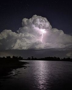 A Cloud Illuminated By Lightning _ While on a diving trip in the Grand Cayman Islands this past September, photographer Mike Jones captured this incredible lightning storm illuminating a storm cloud. Description from pinterest.com. I searched for this on bing.com/images