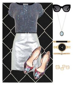 """""""Untitled #75"""" by sanebrooke on Polyvore featuring Safavieh, Topshop, Coast, Bebe, Karen Walker, Style & Co. and Armenta"""