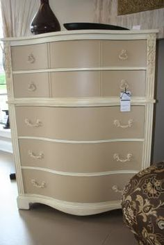 DIY Furniture Makeovers | Perfectly Imperfect Blog.... Here is an idea refurbish an old chest of drawers as a jewelry chest.... Put an old towel rack or curtain rod on the sides of the chest of drawers to hang necklaces and then place velvet lining inside the drawers to help make the new jewelry chest fancier.
