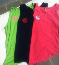 Monogrammed Comfort Colors Tank yes please!!