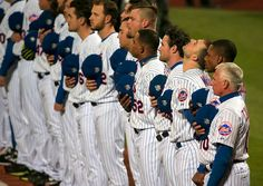 New York Mets third baseman David Wright (5) looks up during the national anthem as the Mets prepare to host the Kansas City Royals in Game 3 of the 2015 World Series. 10/30/15 (Andrew Mills | NJ Advance Media for NJ.com)
