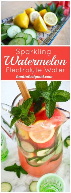Sparkling Watermelon Electrolyte Water   A perfectly pretty, healthy beverage, great for bridal or baby showers, or recovering after a great workout!