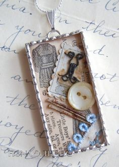 Fiona and The Fig Vintage Shadow Box Charm by FionaAndTheFig