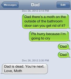 Some dads are just not funny.