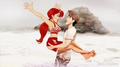 disney princesses reimagined as the notebook. Ariel and erick