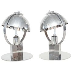 Boris Jean Lacroix Pair of French Art Deco Lamps | From a unique collection of antique and modern table lamps at https://www.1stdibs.com/furniture/lighting/table-lamps/
