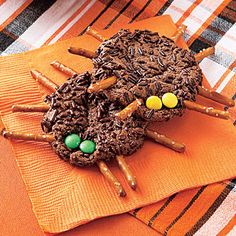Chocolate-Cookie Spiders | MyRecipes.com