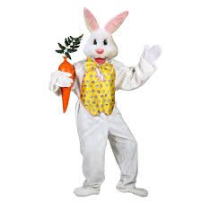 Deluxe Easter Bunny Adult Costume Description: Hoppin' down the bunny trail! For the price, this is the best Easter Bunny costume available! This quality-crafted su Cool Costumes, Adult Costumes, Costume Ideas, Holiday Costumes, Halloween Costumes, Party Costumes, Easter Bunny Costume, Easter Costumes, Yellow Costume