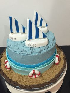 Nautical/sailing cake
