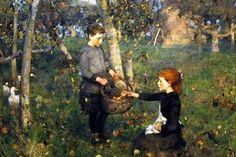 Sir James Guthrie (1859-1930), In the Orchard