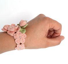 SALE shabby chic braceletpale pink braceletgirly