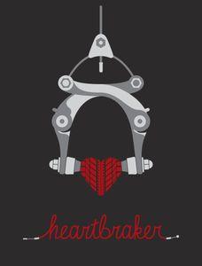 "Chad Kriz 2012 Des Moines' PedalArt bike-themed poster show 19 x 25"""