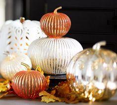 Love this grout/mercury pumpkins-- PB does it again!