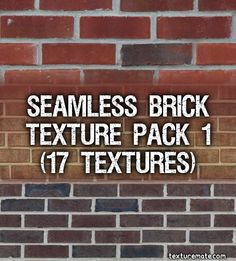 Free Texture Pack for Commercial Use - Seamless Brick Adobe Photoshop, Photoshop Design, Photoshop Tutorial, Brick Texture, Texture Packs, Article Design, Derp, Editorial Design, Blog