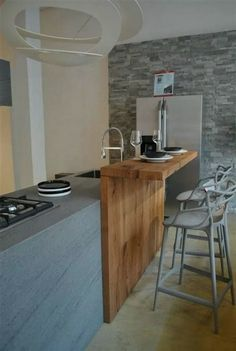 Inspiring Modern Scandinavian Kitchen Design Ideas ⋆ Home & Garden Design Kitchen Bar Design, Home Decor Kitchen, Interior Design Kitchen, Kitchen Furniture, Home Design, New Kitchen, Home Kitchens, Design Ideas, Design Design