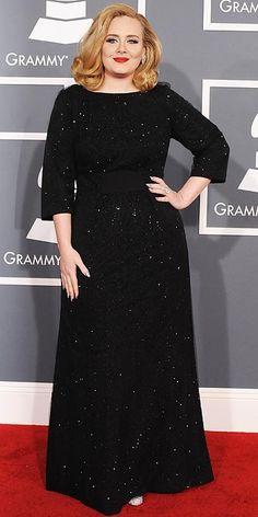 2012 Grammy's: Adele in Giorgio Armani