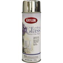 """Mirror spray paint! I first saw this on """"Nate"""" where they used it to make old picture frames into mirrors and make vases and glasses look like mercury glass...I have to get this!"""