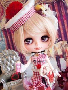 ☆ * Custom Blythe French retro girly sailor Lolita * ☆ Buy her here: #blythe #blythedolls #kawaii #cute #rinkya #japan #collectibles #neoblythe #customblythe