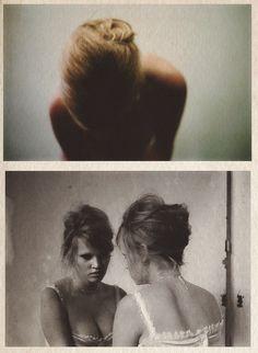 Lara Stone by Nan Goldin for Vogue Paris, June/July 2012