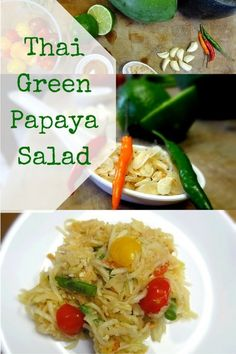 Thai Green Papaya Salad – Som Tam Recipe Easy Thai Recipe: This easy Green Papaya Salad will take you back to the streets of Bangkok. Try this Som Tam Recipe at home!