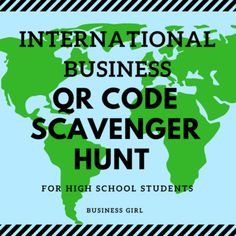 Get your students up and moving with this fun QR Code Scavenger Hunt! This activity is perfect for any business course teaching about countries around the world. This file includes 20 QR Codes that when scanned link to a plain text question. Questions touch on a variety of topics such as: country population, GDP per capita, stock markets, non-verbal communication through gestures, customs, economic systems, major companies, trade agreements, currency, surrounding countries, major exports…