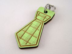 Pet ID Tag #Laser Cut Wood - Hand Painted Tie Dog Tag - Plaid Cat #Collar #Charm,  View more on the LINK: 	http://www.zeppy.io/product/gb/3/123808704/