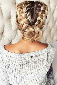 Fabulous Updo – Braided Updo, Messy Updo, Low Chignon Updo, Sleek Updo, Etc Back To School Hairstyles, Fancy Hairstyles, Trending Hairstyles, Girl Hairstyles, Braided Hairstyles, Braided Updo, Blonde Haircuts, Ethnic Hairstyles, Up Dos