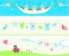 Baby_banners - ilustração de arte em vetor
