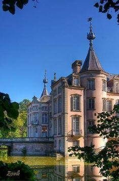 The Pink Castle of Poeke - Flanders, Belgium by estella
