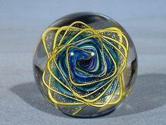 "Marbles: Hand Made Art Glass James Alloway Dichroic ""Weldons World""#62  1.9inch"