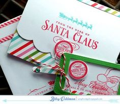 Santa-Station such a cute idea for my grandaughters