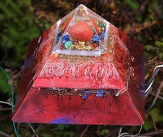 Large Orgonite Pyramid  with Red Jasper by OrgoniteFamily on Etsy