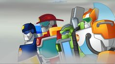 Gotta love the warrior faces of these Rescue Bots!