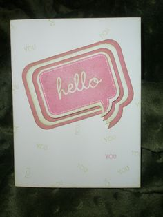 CTMH Hello card Ink and Rejoice: Cricut Creations
