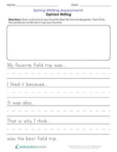 Evaluate student skills with these kindergarten worksheets for spring math and ELA assessment. Writing Assessment, Writing Worksheets, Kindergarten Worksheets, Kindergarten Assessment, Writing Rubrics, Kindergarten Writing, Middle School Science, Elementary Science, Elementary Education