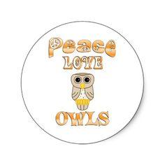 peace love owls