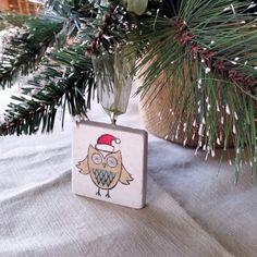 Meet Owlbert, the latest #owl ornament by My Little Chickadee Creations