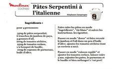 10 recettes cookeo pennes et pâtes vol 2 |