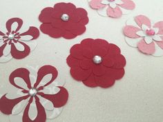 Mixed Handcrafted Paper Flowers for by PaperCraftingByMandy, $3.98