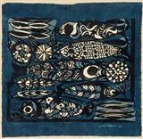 Sadao Watanabe - Five Fish, 1961, Stencil on... on MutualArt.com