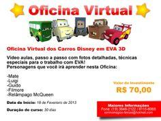 Oficina Virtual dos Carros Disney! Mega curso com vídeos e passo a passo  detalhado com e32291f09f3