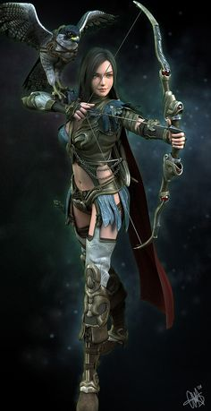 Helena the Archer by Marthin Agusta Simny Just know that when the Zombies invade...I will be dressing like this and changing my name to Helena!