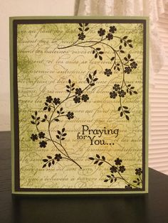 """Stampin' Up! Thoughts and Prayers"" and ""Stampin' Up! En Francais."""