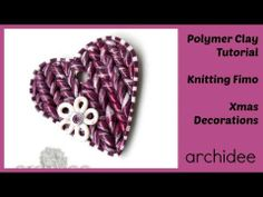 DIY Knitting Fimo | Tutorial  | Polymer Clay | Knit Effect | ho imparato a lavorare a maglia :D