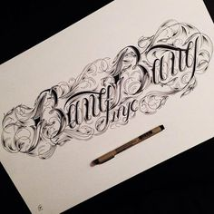 Beautiful Hand Lettering Typography by Raul Alejandro Chicano Lettering, Tattoo Lettering Fonts, Tattoo Script, Graffiti Lettering, Lettering Styles, Lettering Design, Hand Lettering, Calligraphy Letters, Typography Letters