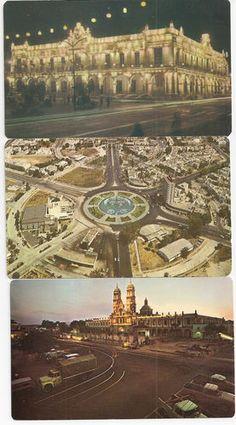 Guadalajara Mexico vintage postcards