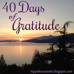 Lent: 40 days of gratitude