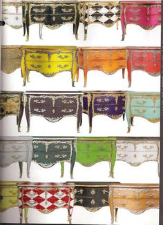 """Louis XV Style Bombe Chest with Two Drawers in various finishes. Made in France by the renowned French cabinetmaker, Moissonnier; 51"""" w. x 25"""" d. x 34"""" h. Available in custom finishes. $19,012!!! Sold by GablesFurniture.com. Category: Accent Chests and Cabinets. ~ DECORATIVE CRAFTS 2011 FURNITURE COLLECTION FROM EUROPE. Decorative Crafts sells to the trade only."""