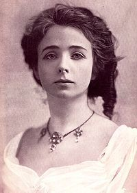 """Maude Adams (November 11, 1872 – July 17, 1953) was an American stage actress who achieved her greatest success as Peter Pan. Adams' personality appealed to a large audience and helped her become the most successful and highest-paid performer of her day, with a yearly income of more than one million dollars at her peak. She was often referred to simply as """"Maudie"""" by her fans. 1892 portrait."""