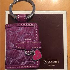 Coach mini picture frame keychain Coach mini picture frame keychain. Very good condition. Never used. Coach Accessories